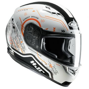 HJC CS-15 Safa Orange Motorcycle Motorbike Full Face Helmet - XL - RRP £89.99
